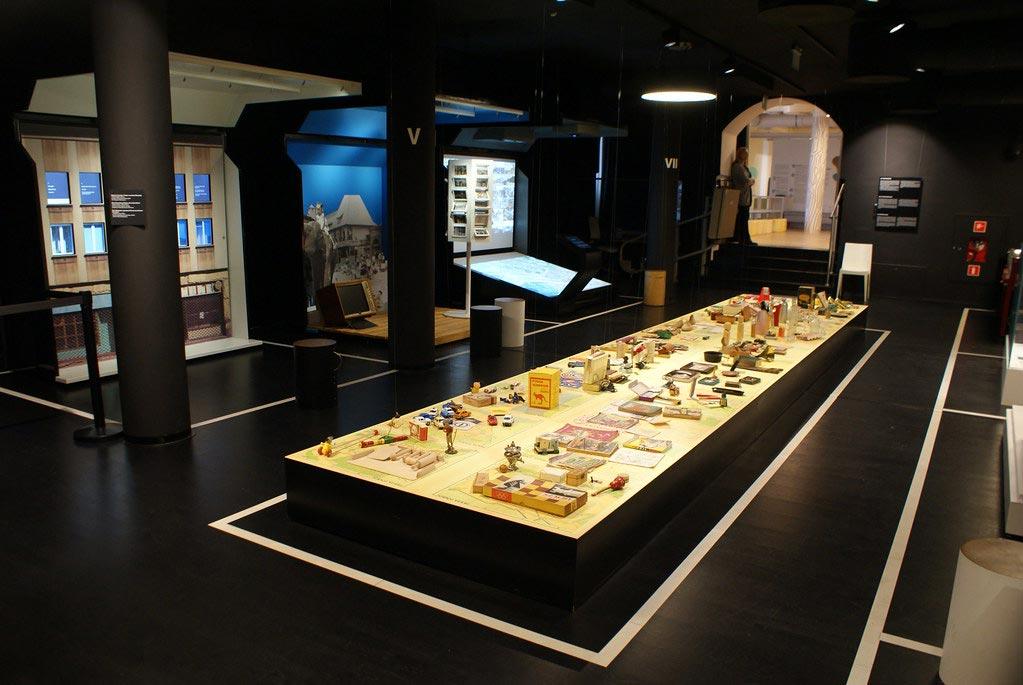 Panorama de la vie culturelle, commerciale, industrielle, associative du quartier au 19e et 20e - Musée de Praga à Varsovie