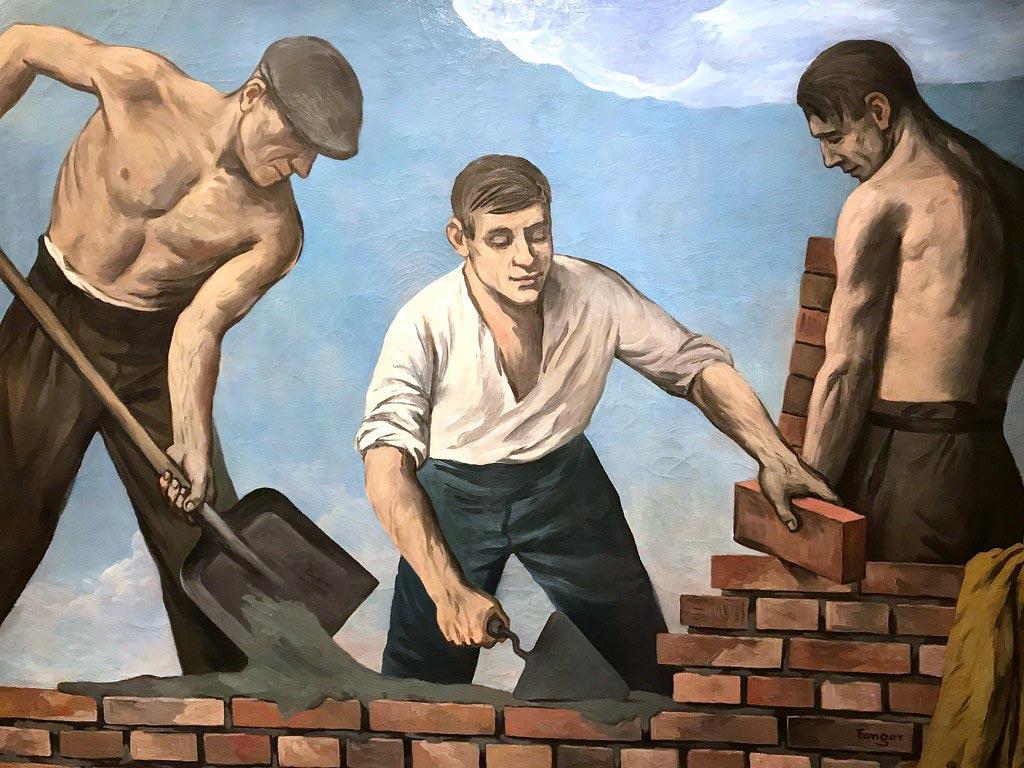 Reconstruction de Varsovie dans le style réalisme-socialiste - Musée d'histoire de Varsovie.