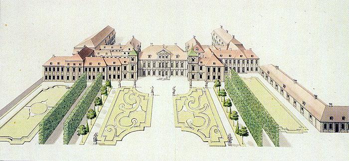 Palais et jardin de Saxe à Varsovie.