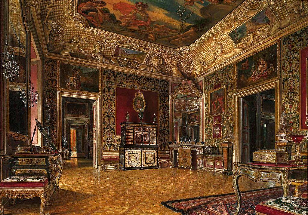 Chambre de la reine dans le Palais de Wilanow à Varsovie - Toile de Gryglewski