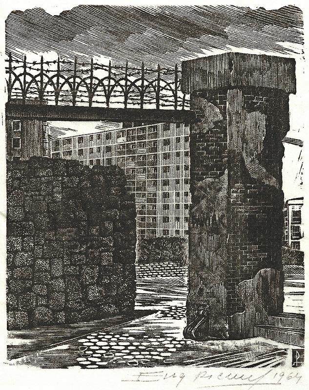 La prison Pawiak à Varsovie par Eugeniusz Pichell.