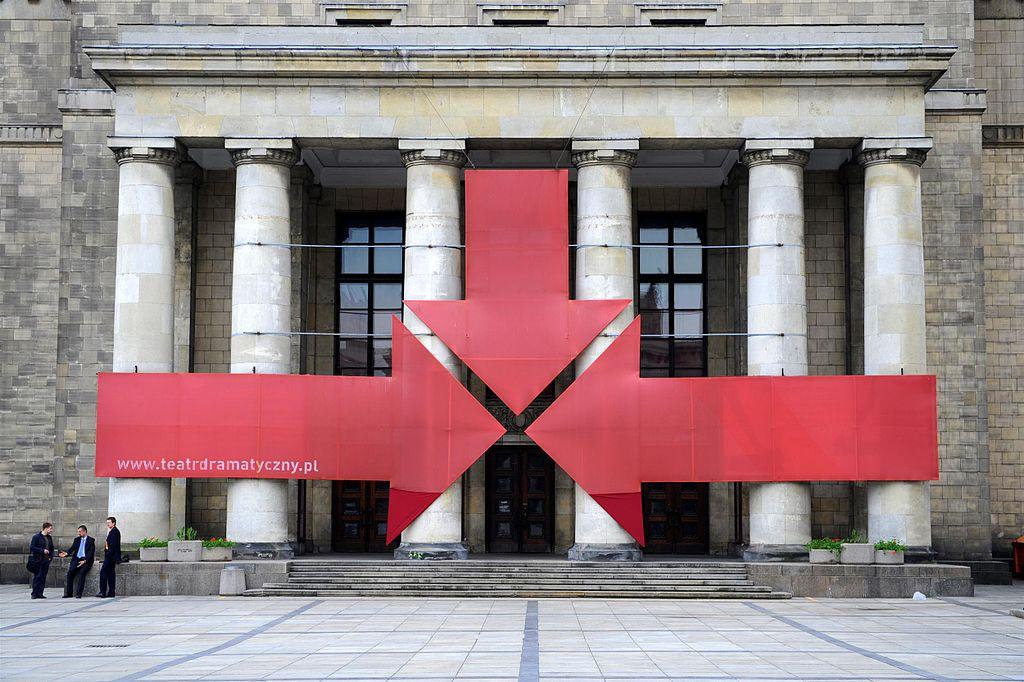 Entrée du Théâtre Dramatyczny dans le Palais de la culture et des sciences à Varsovie - Photo de Cezary p