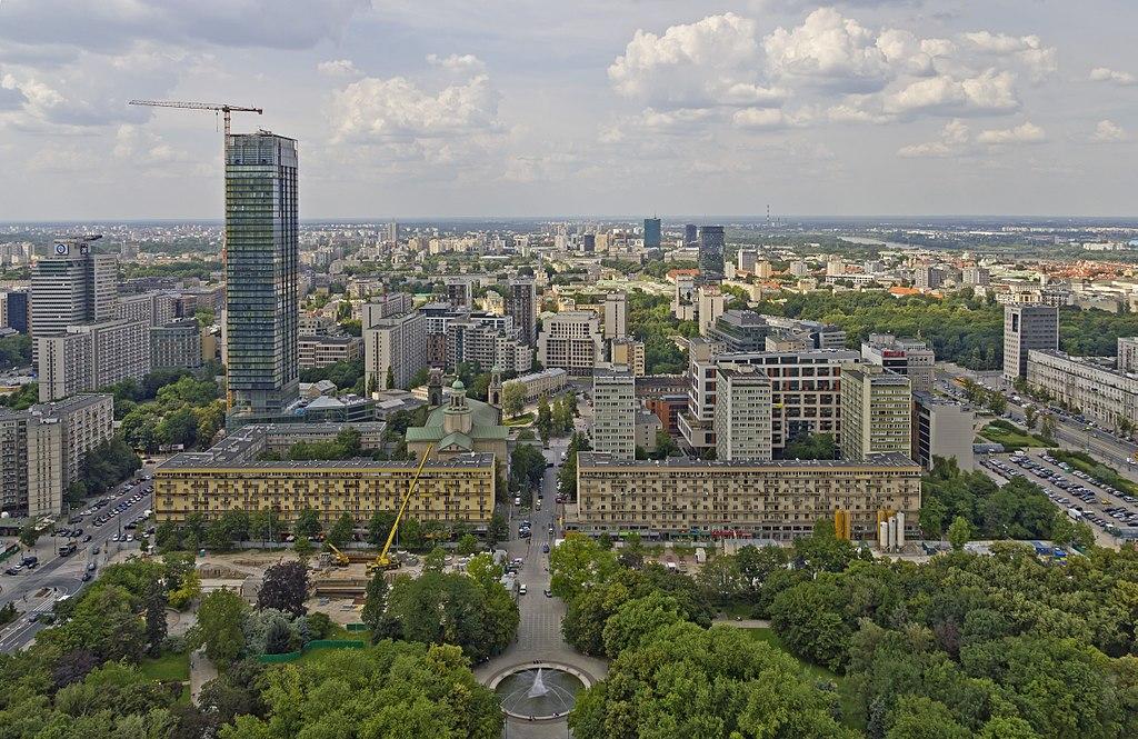 > Vue depuis le Palais de la Culture à Varsovie - Photo d'A.Savin.