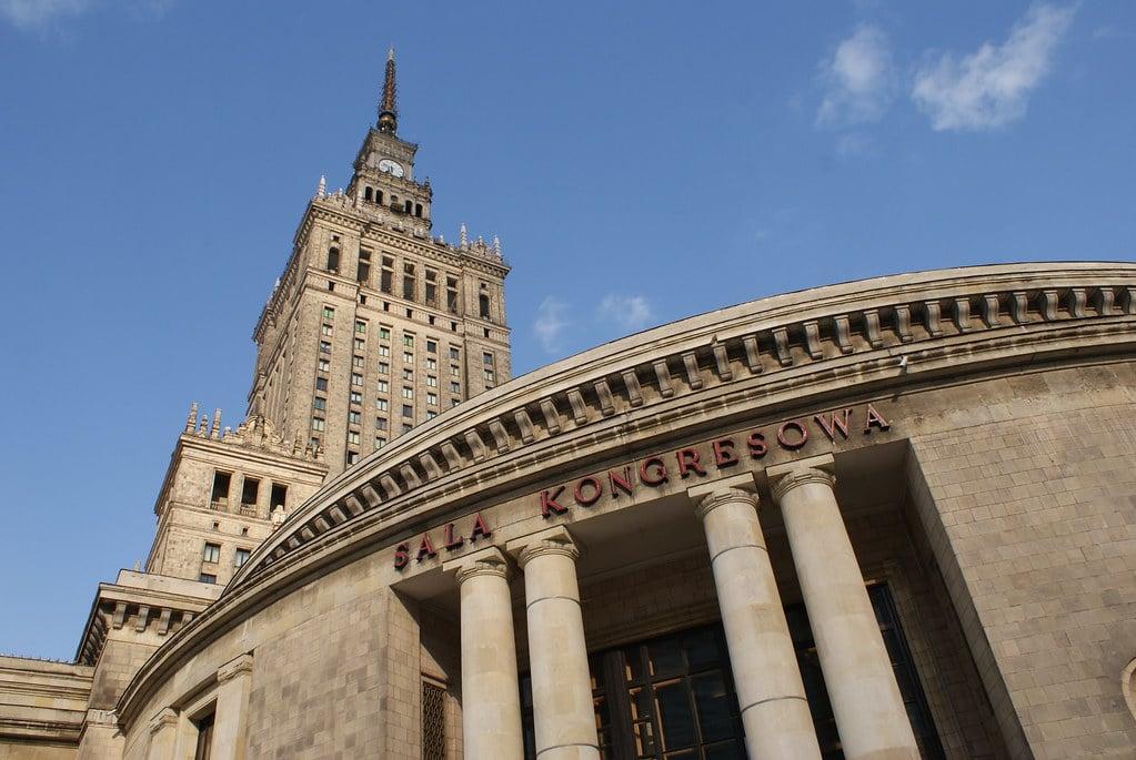 Halle des congrès au Palais de la culture et des sciences à Varsovie.