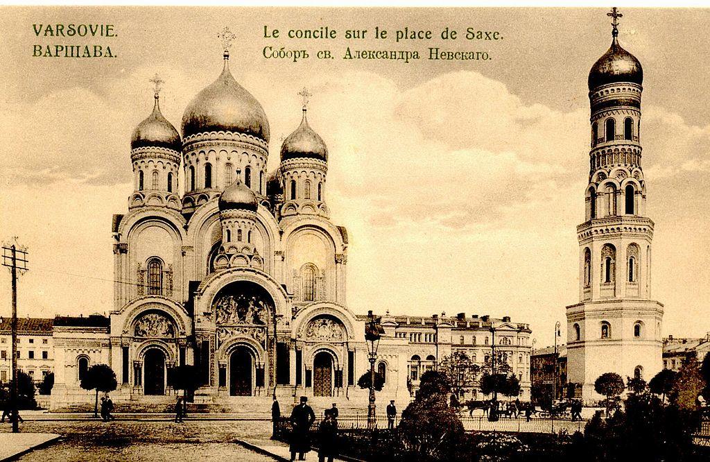 Cathédrale orthodoxe Alexandre Nevsky à Varsovie en 1910.