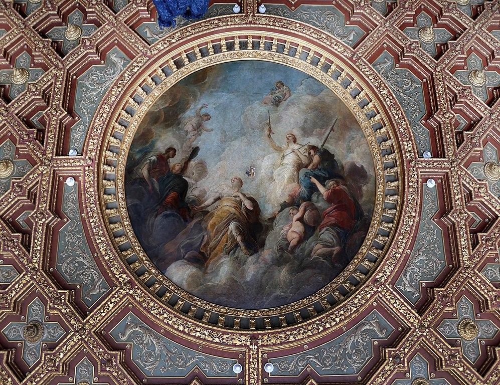 Plafond peint de Fabio Canal au Palazzo Grassi à Venise.