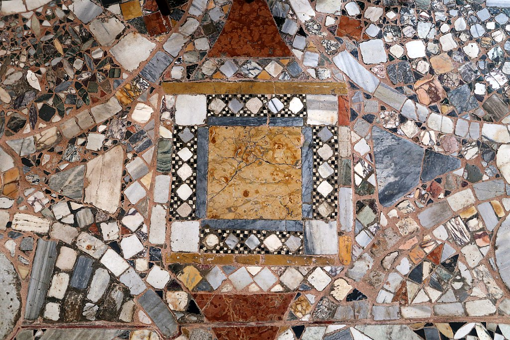 Superbe sol de la basilique Santi Maria e Donato à Murano près de Venise - Photo de Sailko