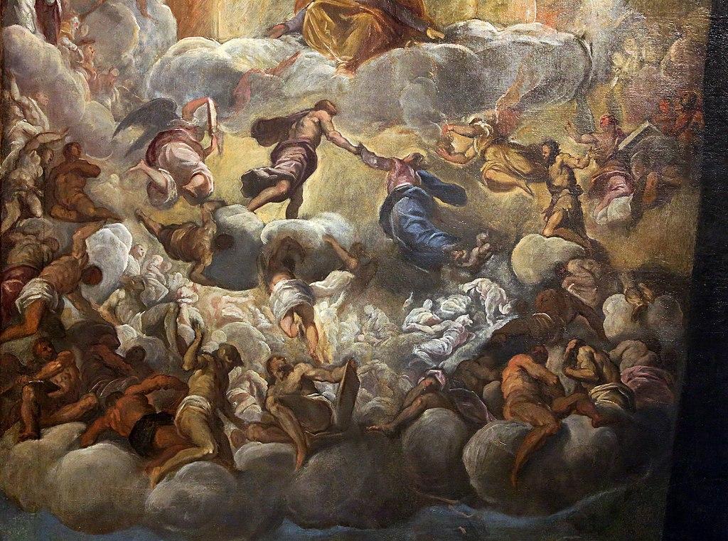 """""""Assunzione della vergine"""" de Palma il Giovane dans la Fondation Querini Stampalia à Venise."""