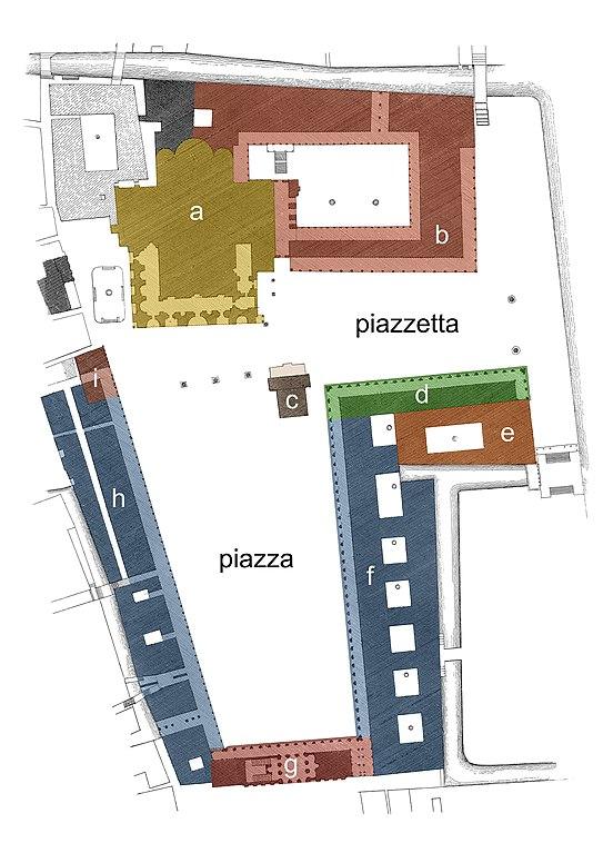 Plan de la place Saint Marc à Venise - Image de Veniscape