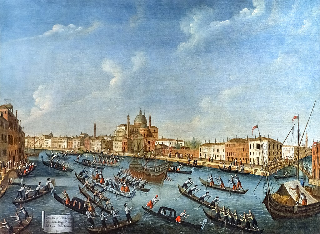 """""""Corso nel Canale della Giudecca"""" de Gabriele Bella dans la fondation Querini Stampalia à Venise"""