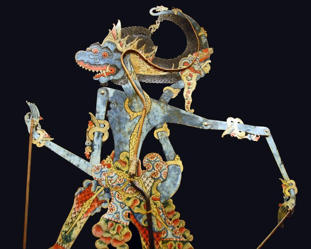 Marionnette du théâtre d'ombre javanais du musée d'art asiatique de Ca'Pesora à Venise - Photo de Dalbera