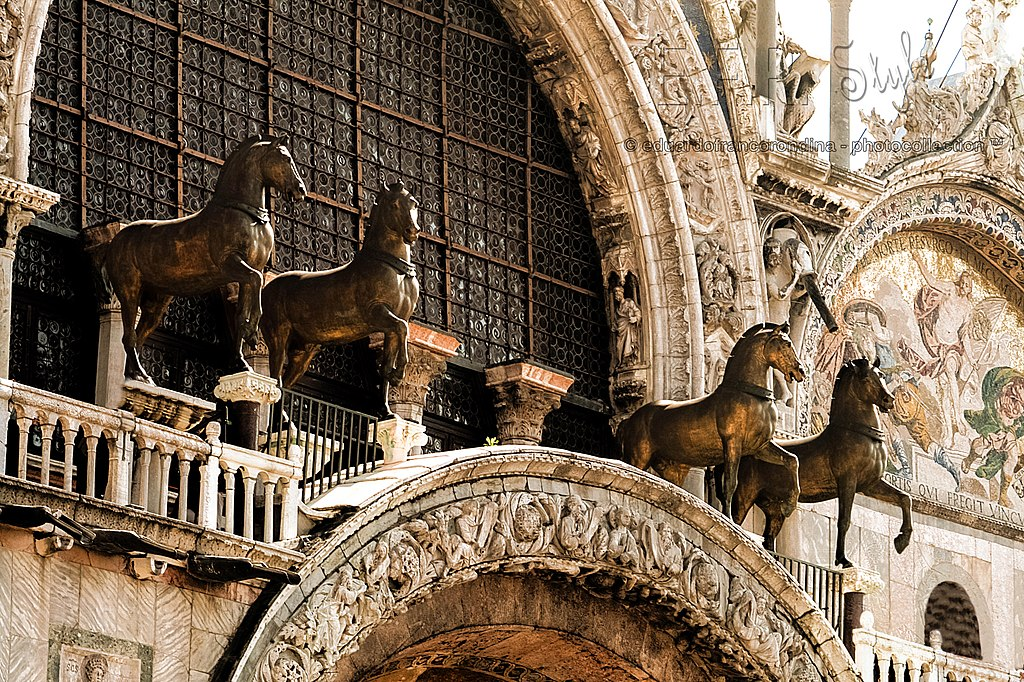 Chevaux de la Basilique de Saint Marc à Venise - Photo de Franco Rondina