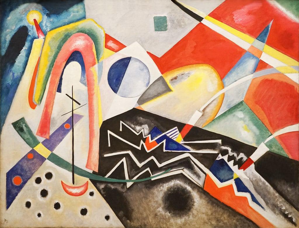 """Zig Zag blancs"" de Vassily Kandinsky au Musée d'art moderne Ca' Pesaro de Venise - Photo de Dalbera"