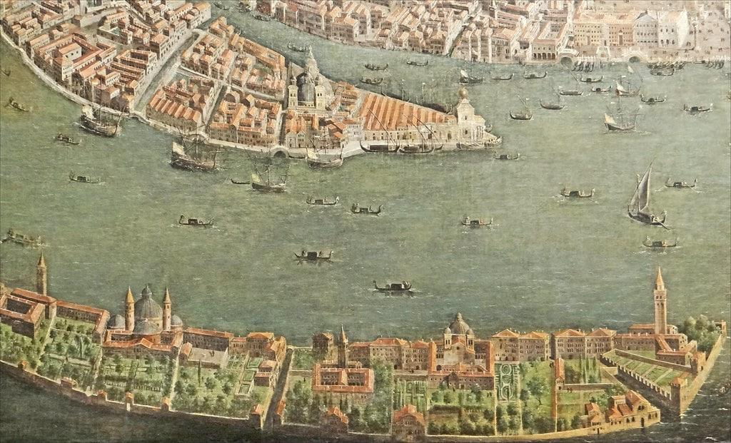 Carte de l'île de Giudecca à Venise au 17e siècle.