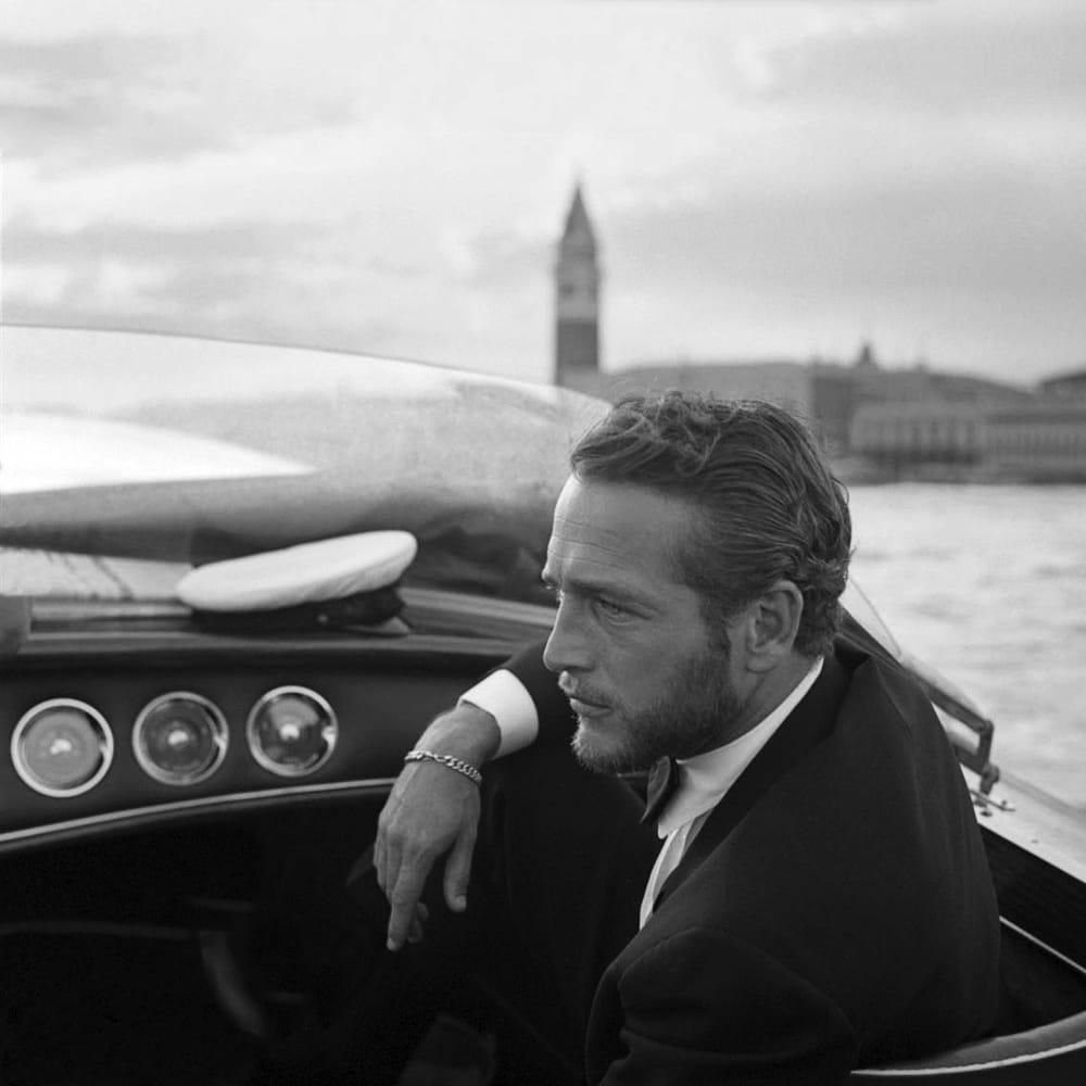 Paul Newman à Venise en 1963 pour la Mostra, le Festival de cinéma du Lido.