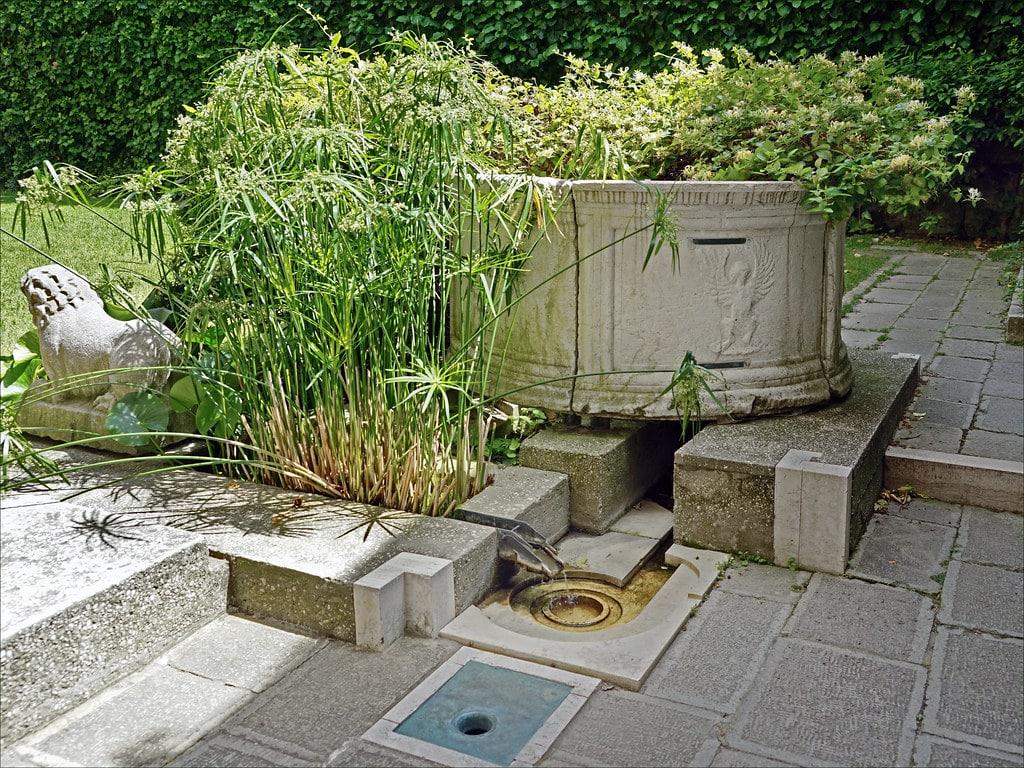 Jardin dans la fondation Querini Stampalia à Venise - Photo de Dalbera