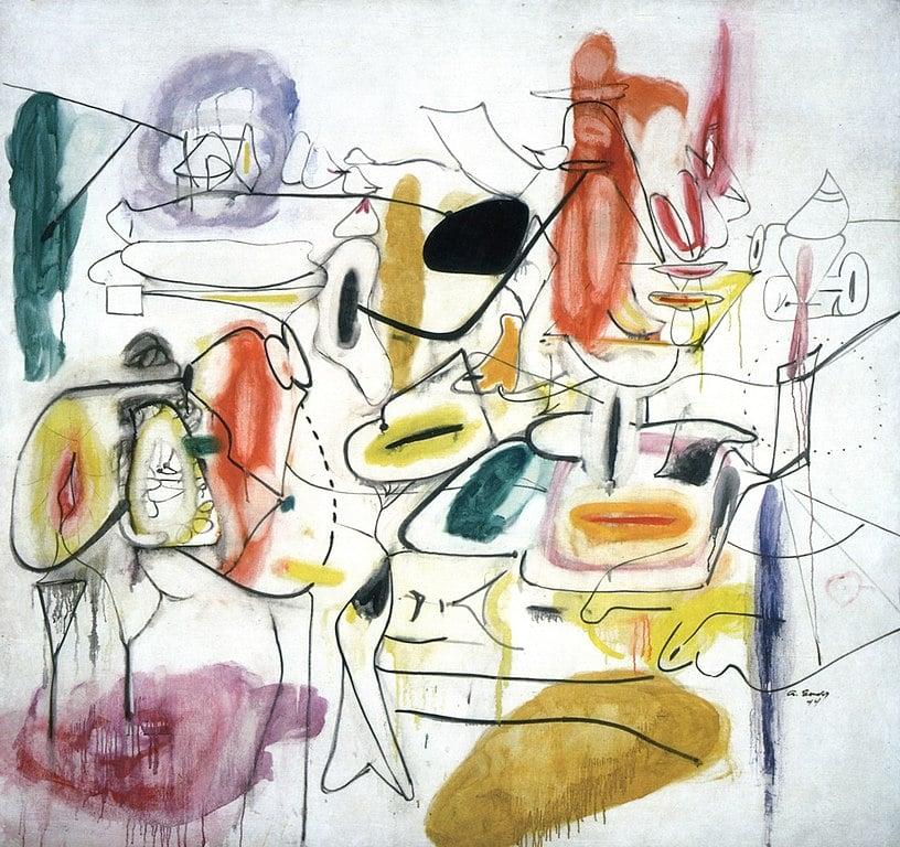"""""""Painting 2"""" d'Arshil Gorky au musée Collection Peggy Guggenheim à Venise"""