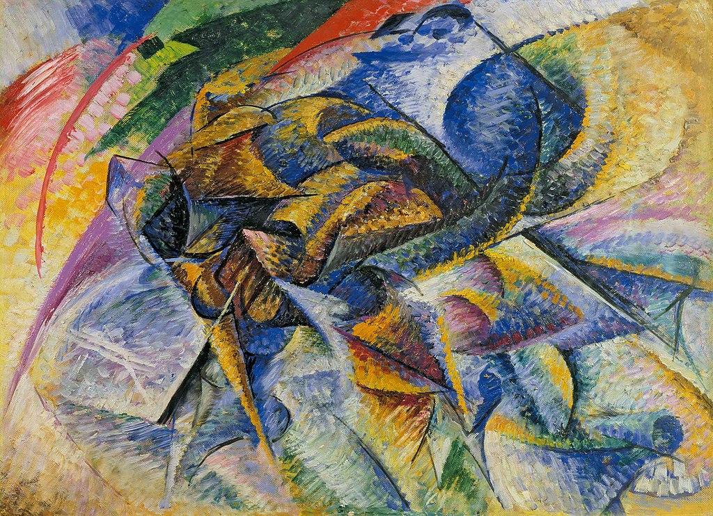 """""""Dynamism of a Cyclist"""" d'Umberto Boccioni (1913) au musée Collection Peggy Guggenheim à Venise"""