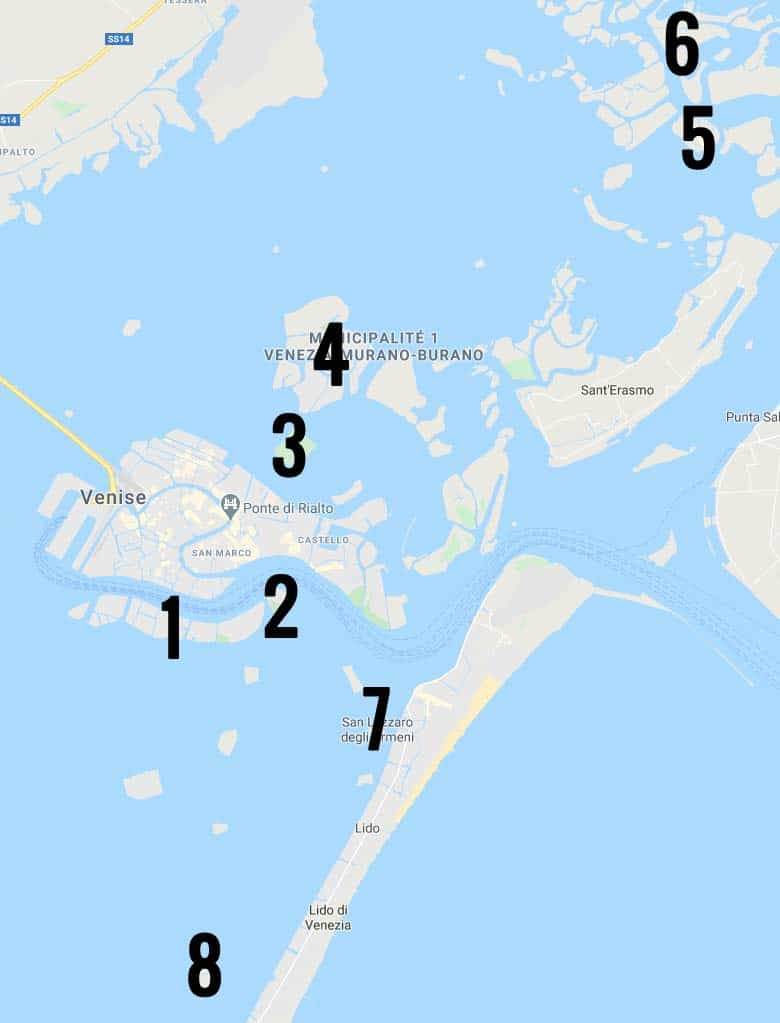 Îles près de Venise : Les plus connus, les plus mystérieuses et insolites de la lagune
