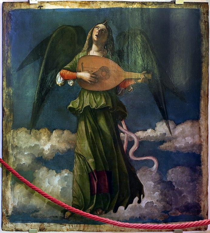 Tableau de Pier Maria Pennacchi attr. due angeli musicanti - Photo de sailko