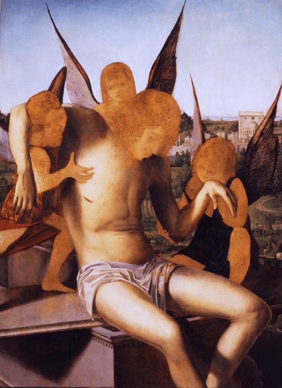 Pieta avec 3 anges d'Antonello da Messina (1475) au musée Correr de Venise
