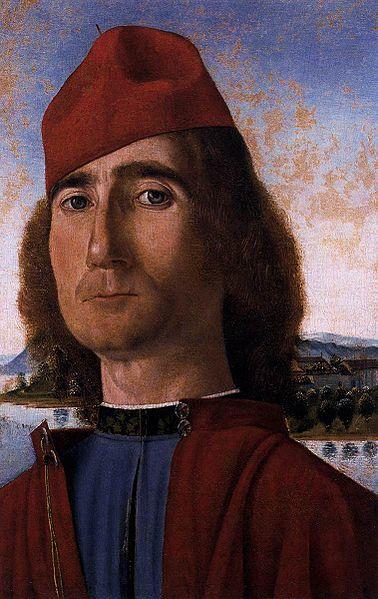 """""""Homme au bonnet rouge"""" de Carpaccio au musée Correr de Venise."""
