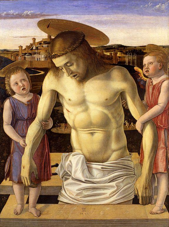 Musée Correr à Venise : Christ mort supporté par deux anges, peinture de Giovanni Bellini.