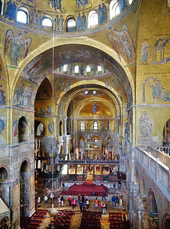 Intérieur de la Basilique de Saint Marc à Venise - Photo de Zairon