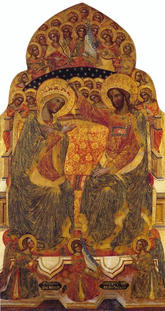 """""""Coronation de la vierge"""" (1372) au musée Querini Stampalia à Venise - Photo de Didier Descouens"""