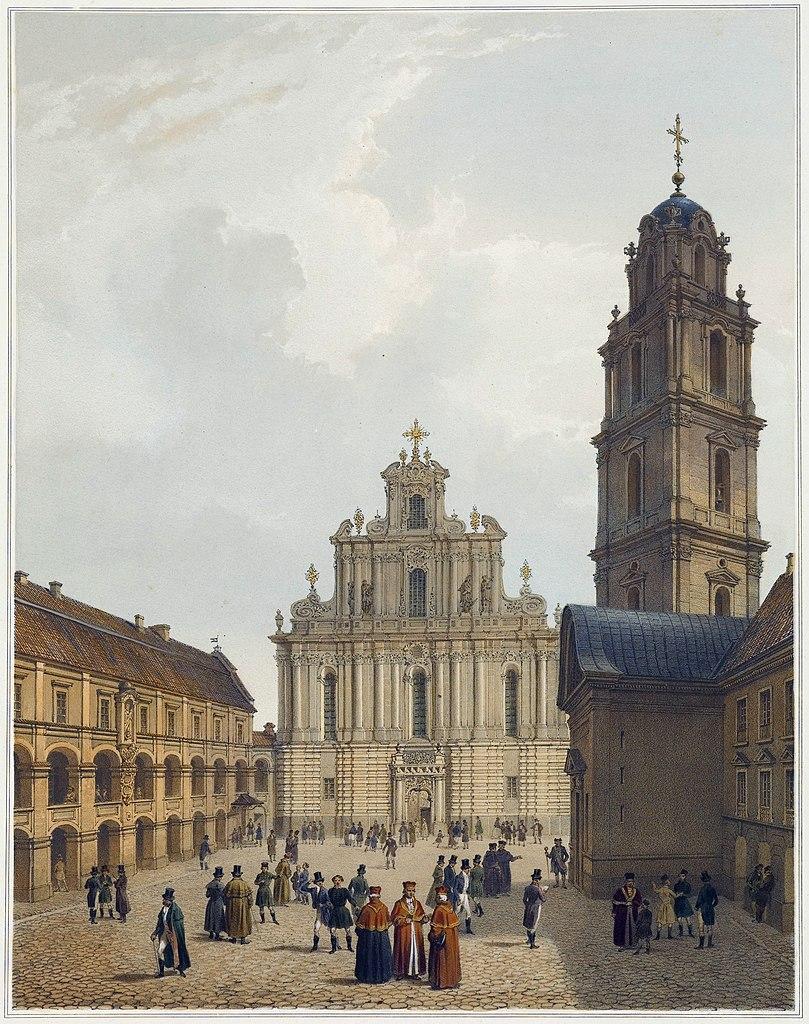 Université de Vilnius par Philippe Benoist et Adolphe Jean-Baptiste Bayot (1850).