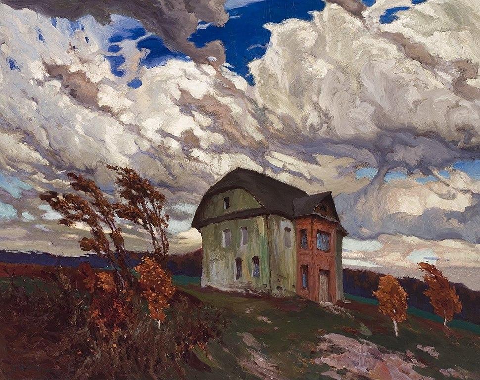 """""""Pustka"""" (1901) de Ferdynand Ruszczyc dans le musée d'art lituanien de Vilnius."""